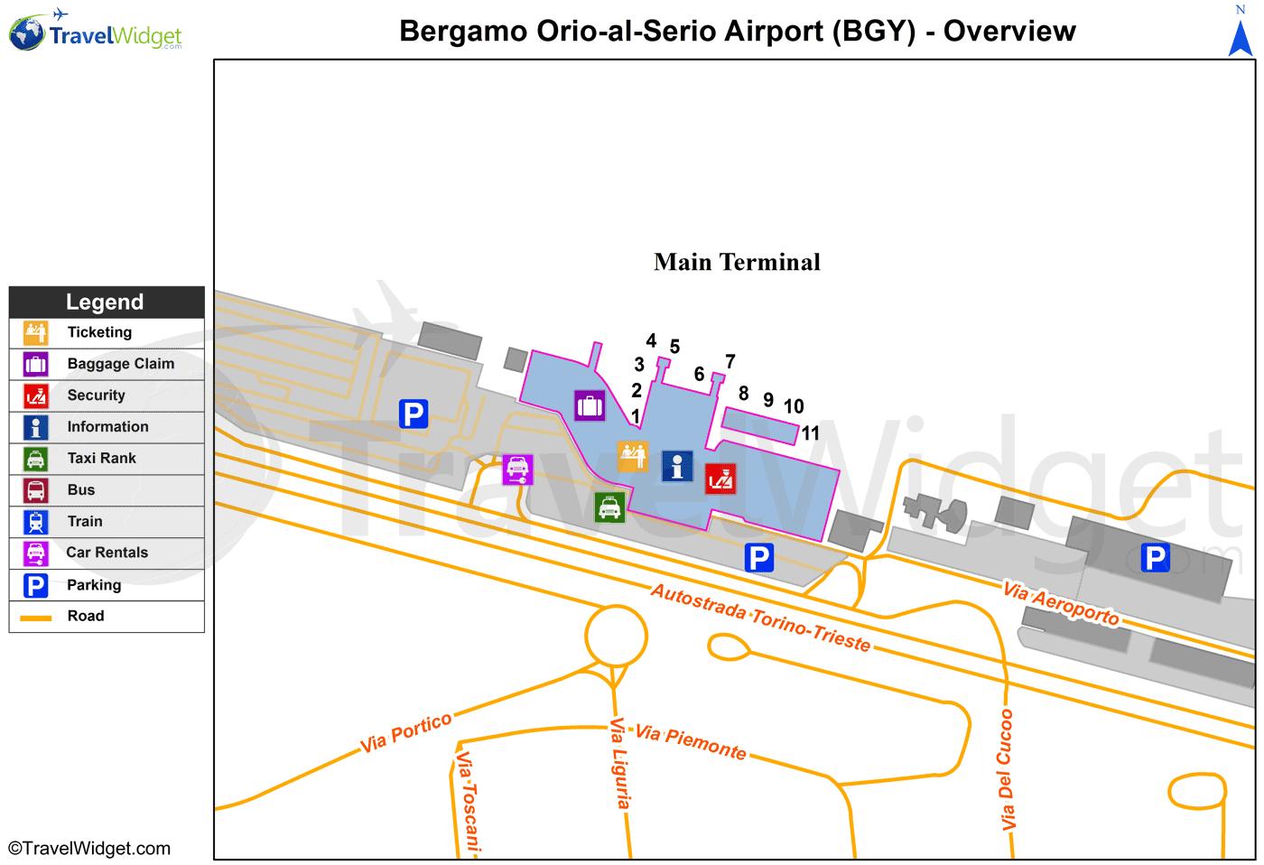 Aeroporto Orio Al Serio : Centro commerciali vicini all aeroporto di orio al serio