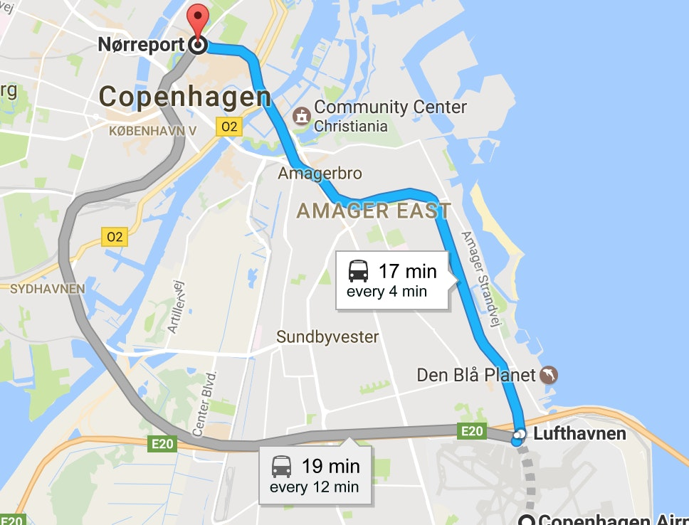 Copenhagen Airport Getting To The City From The Airport Copenhagen - Where is copenhagen located