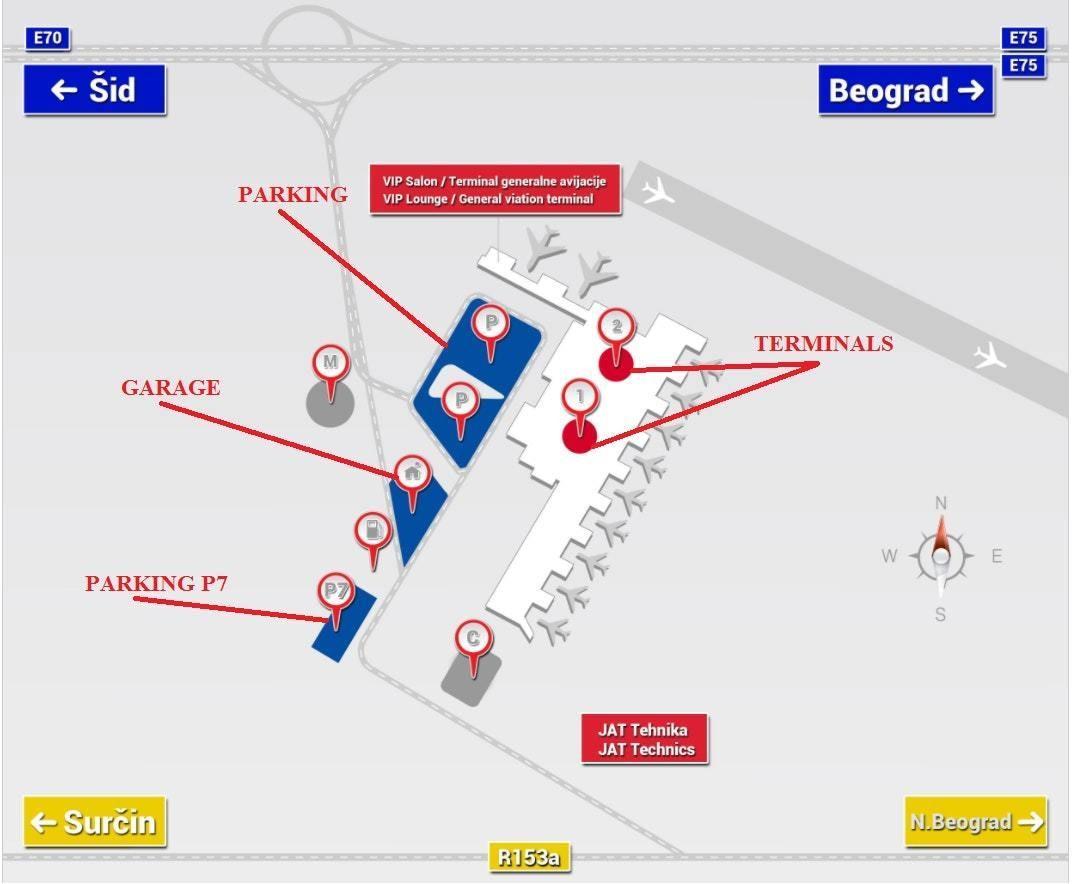 Parking Places In Belgrade International Airport Belgrade
