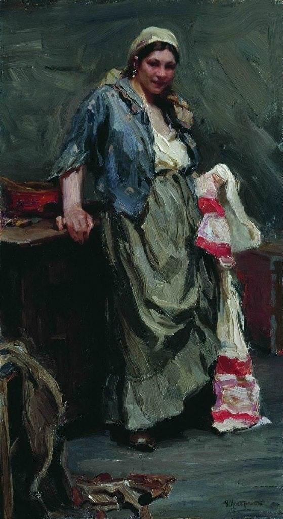 Hostess by Nicolay Kasatkin