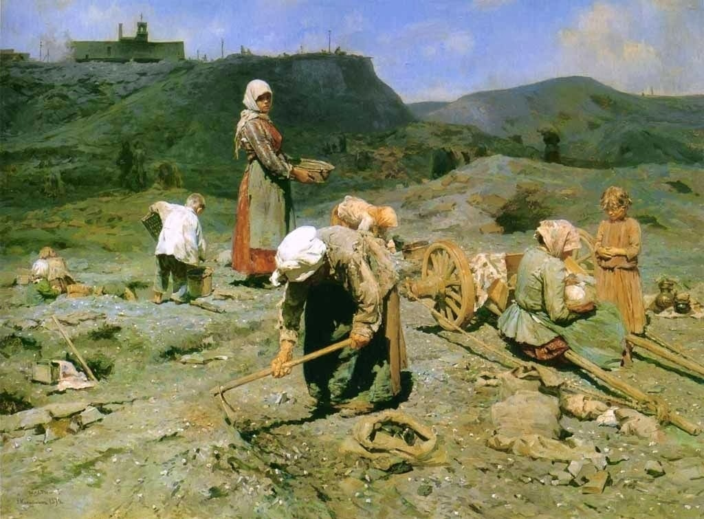 Poor People Collecting Coal In An Abandoned Pit, by Nicolay Kasatkin