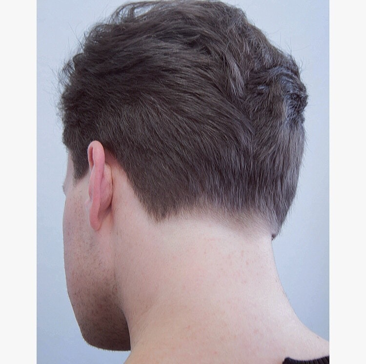 Cross Graduation With Low Taper On Nape Hairbrained