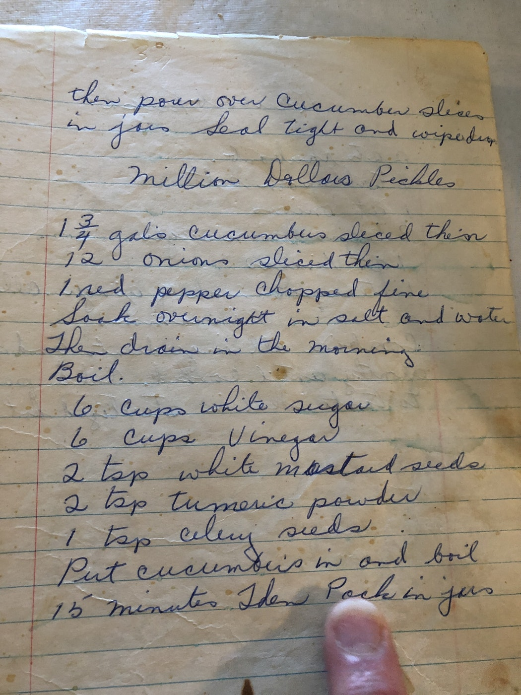 Sherry Heschuk's great grandmother's million-dollar pickle recipe