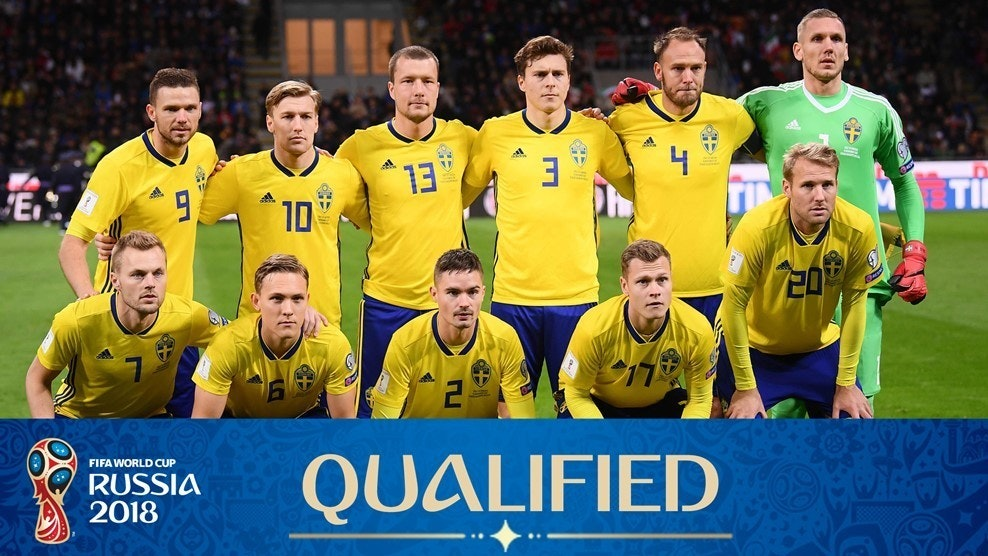 e1c5afb1032 The Swedish soccer team with Janne Andersson as the Swedish coach, in Russia  2018! Photo by FIFA
