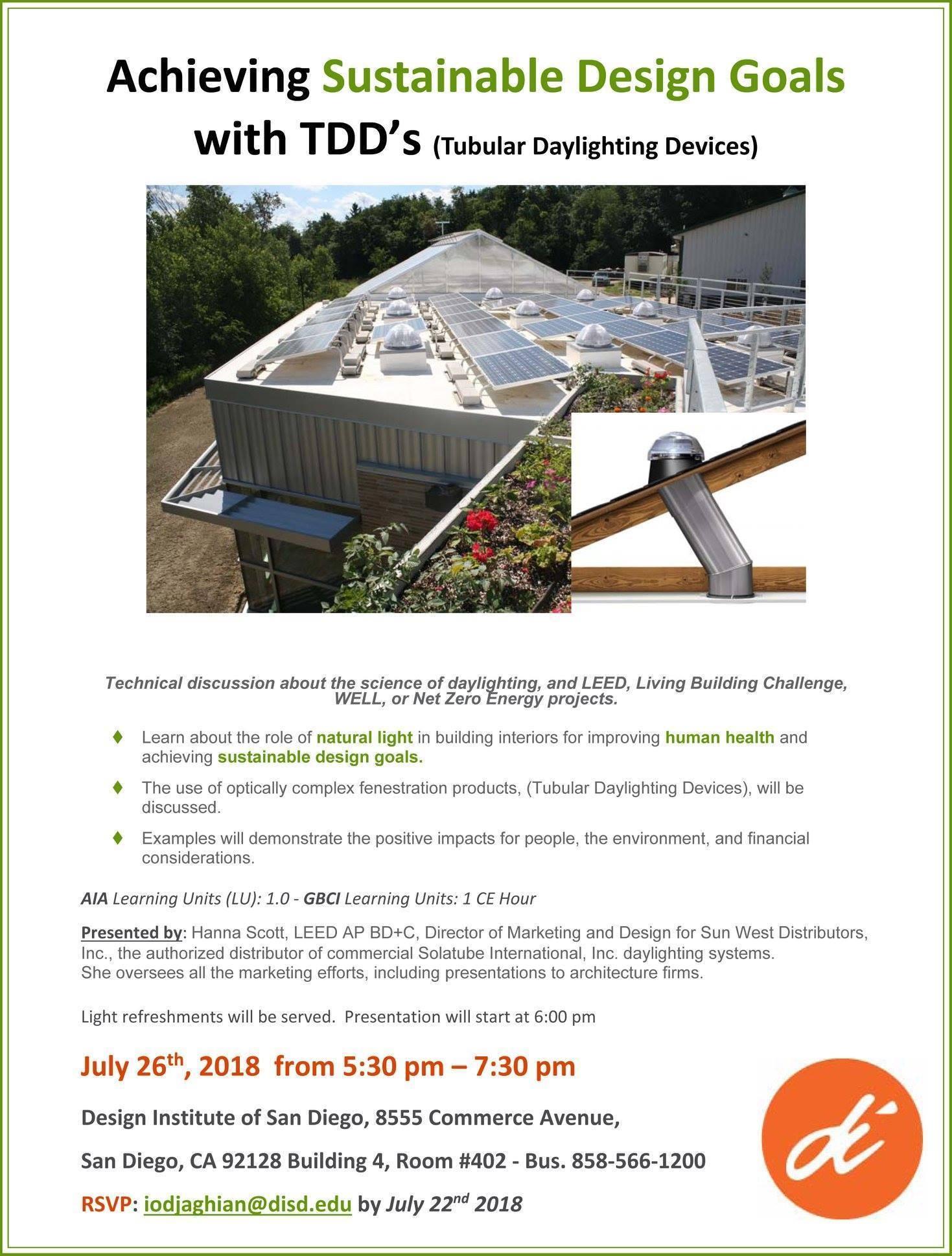 tubular daylighting devices rsvp iodjaghiandisdedu by july 22 2018 upcoming events interior design community