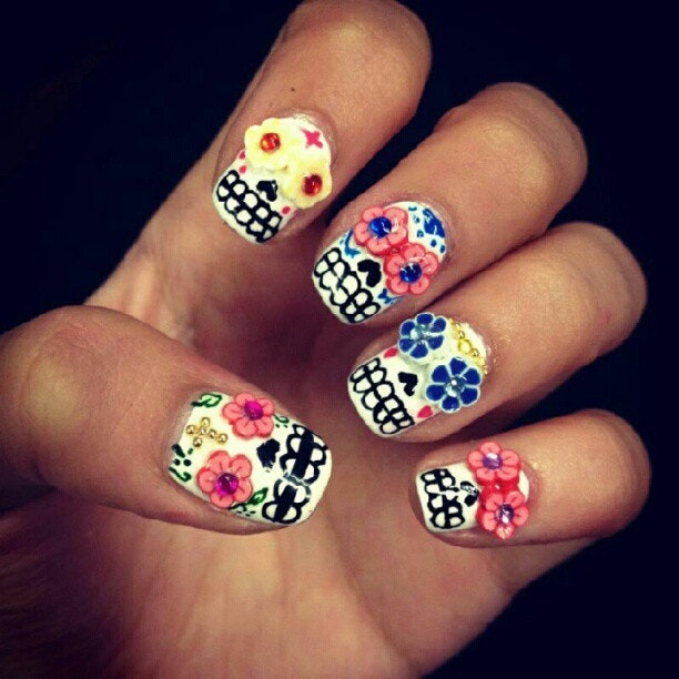 Look at wah girl kims super girly mexican sugar skulls nails look at wah girl kims super girly mexican sugar skulls nails nailart prinsesfo Image collections