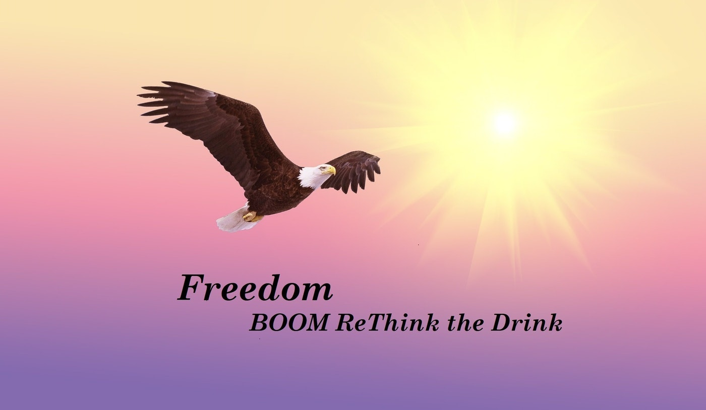 eagle flying free, inspiration to join a moderate drinking community