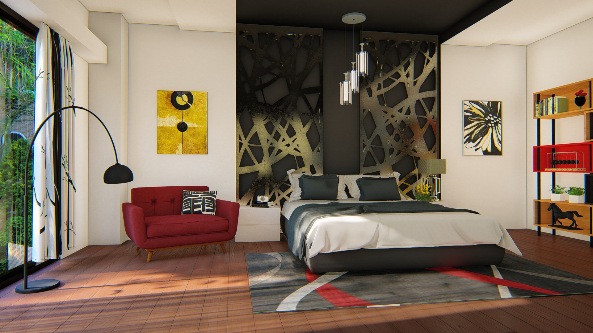Bedroom interiorSketchup + Lumion 8 | Architecture
