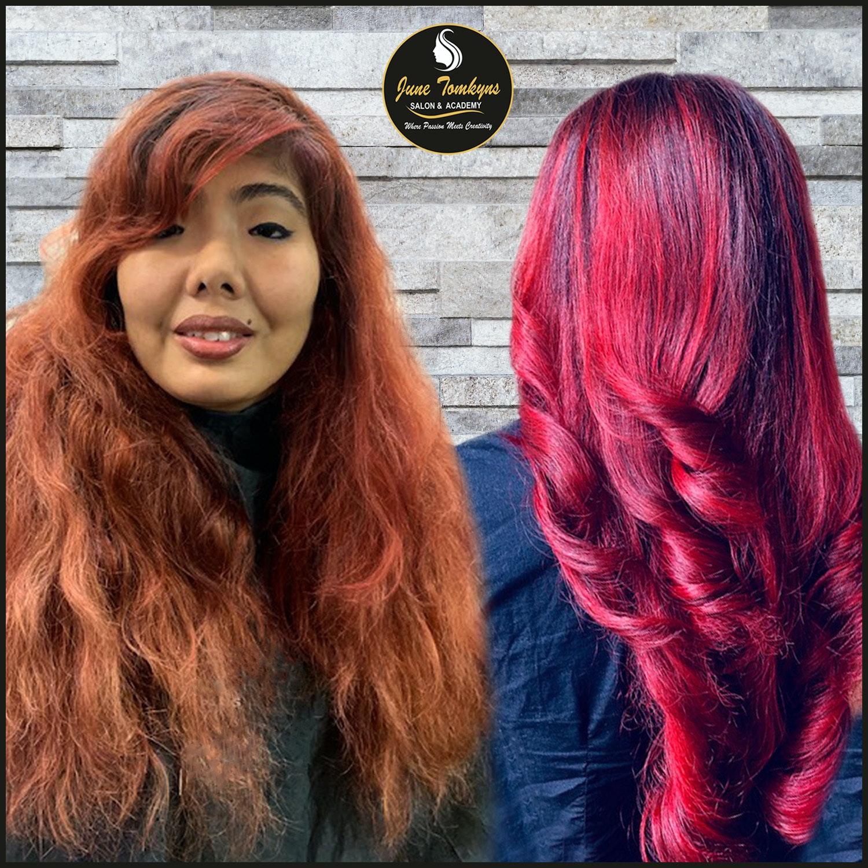 Priscilla Corner prelightened Monikankana Dasgupta hair to a level 8