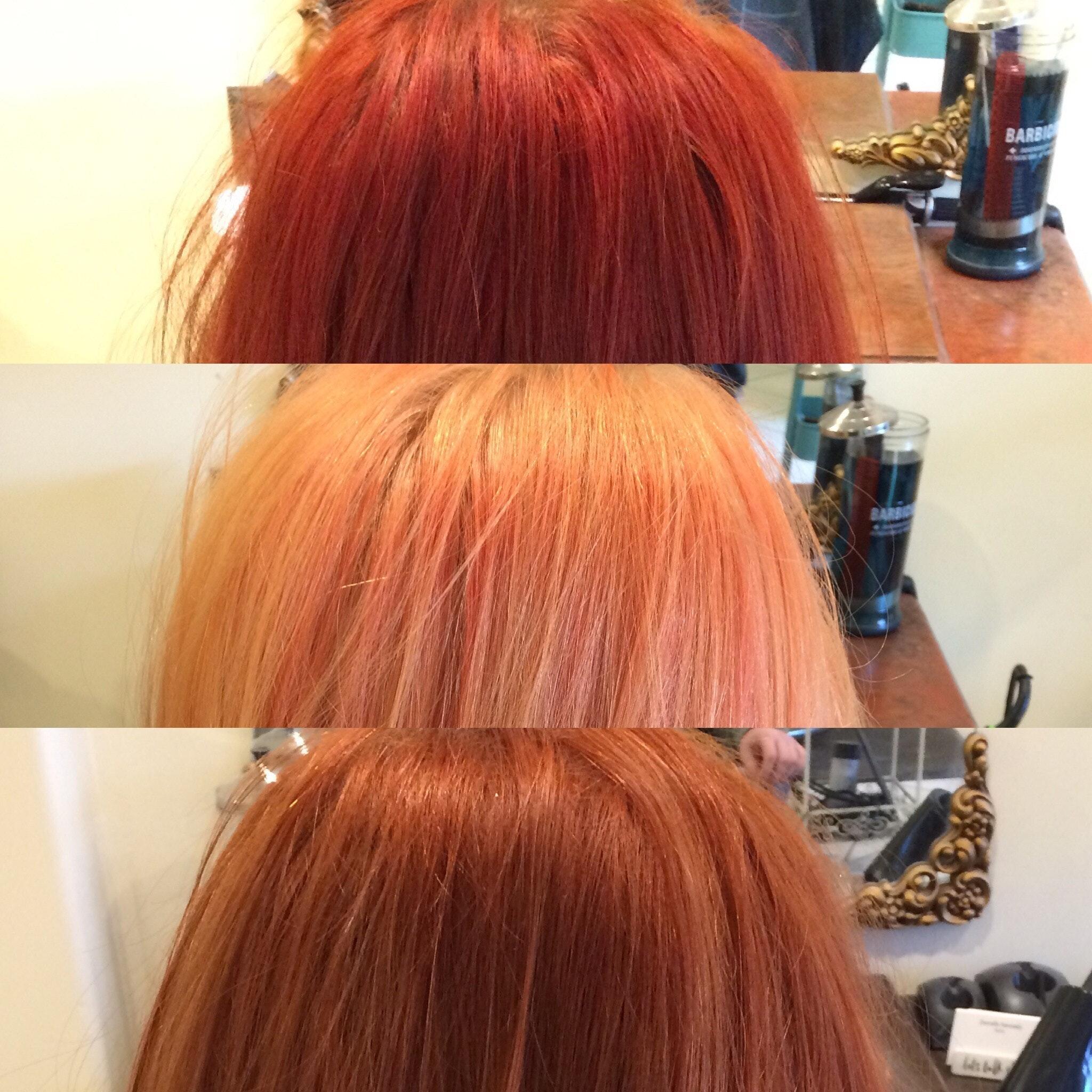 Colour Change From Loreal Professionnel Inoa Carmilane Red Copper